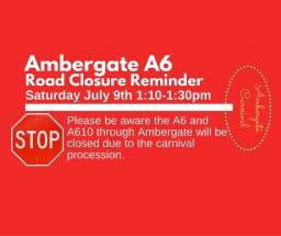 Road Closure Reminder